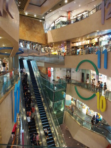 Langham place shopping mall.