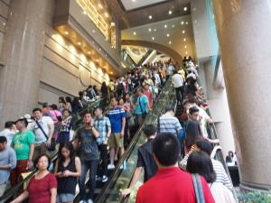 Hordes of people