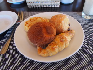 Pastries for breakfast.