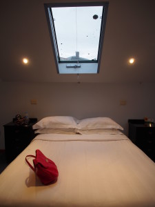 Stargazing windows above the bed.