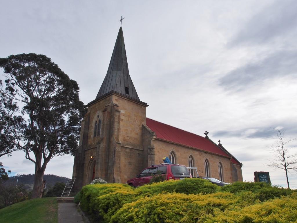 Church atop a hill.