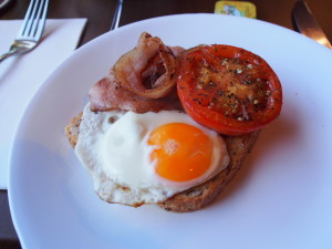Delicious cooked breakfast.