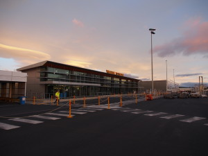 Tiny Hobart airport.