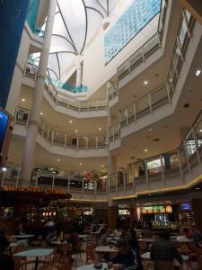 Inside Myer shopping mall.