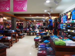 Inside one of apparels store.