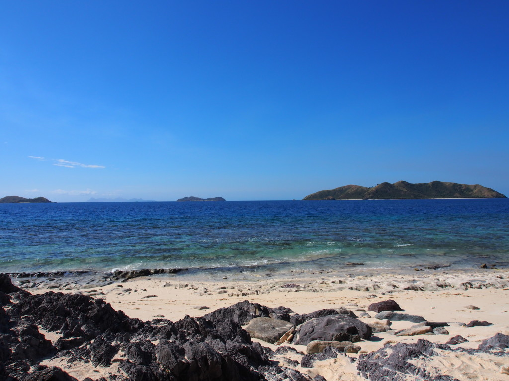 Other islands from the beach.