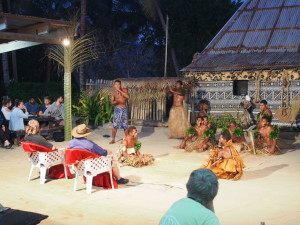 Kava ceremony with our own chiefs on the chairs.