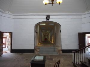 Long corridor of cells.