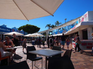 Crowded lunch area.