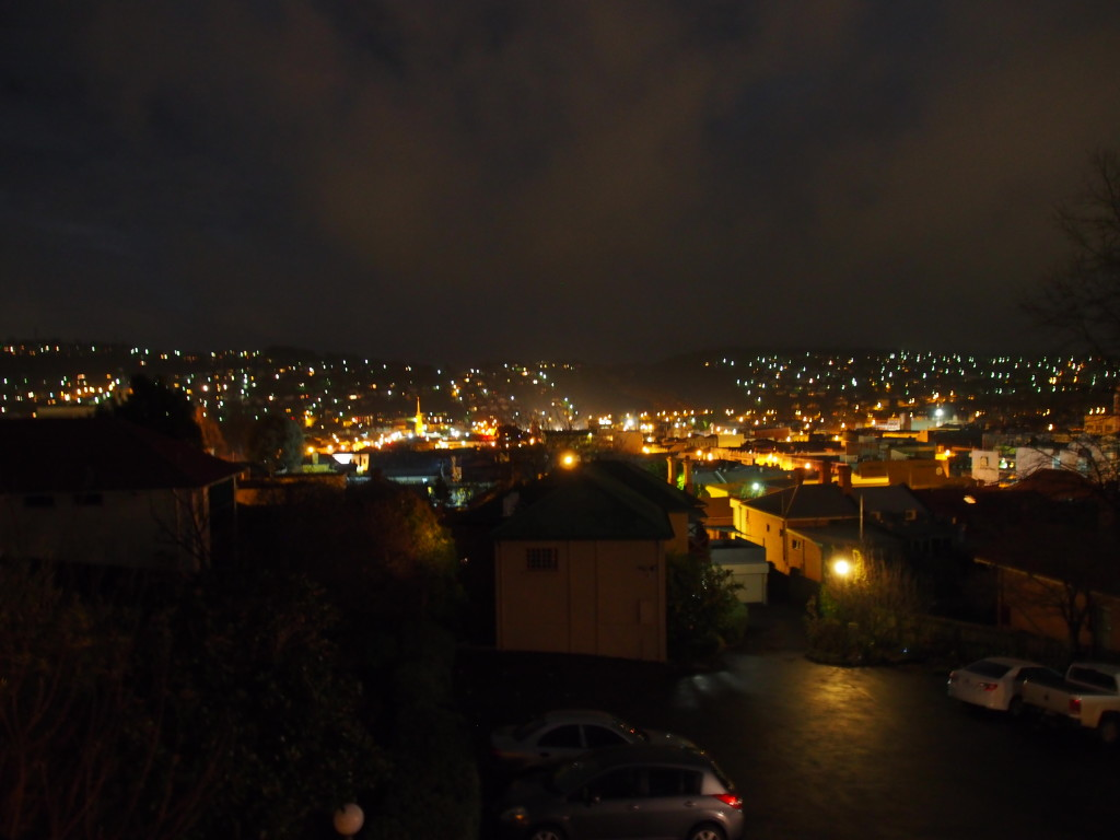 Night view from the room.