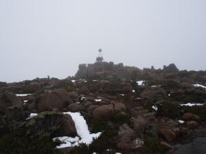 Top of Mount Wellington.