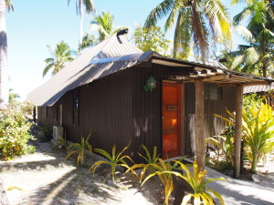 Our beach front bure.