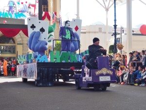 Why so serious? Joker on parade.