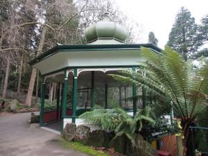 Info Pavilon in the park.