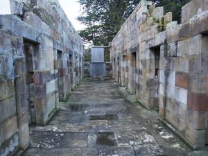 Original walls of the cells.