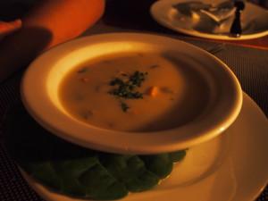 Seafood chowder.