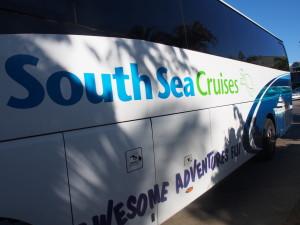 South Sea Cruises bus.