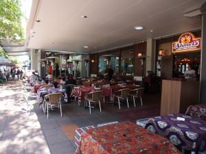 Restaurants lining Stanley street.