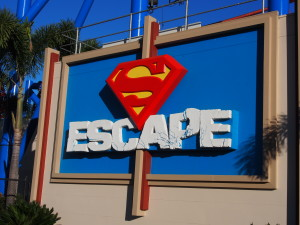 Superman escape with the speed of light!