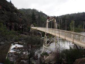 Suspension bridge at Cataract Gorge.