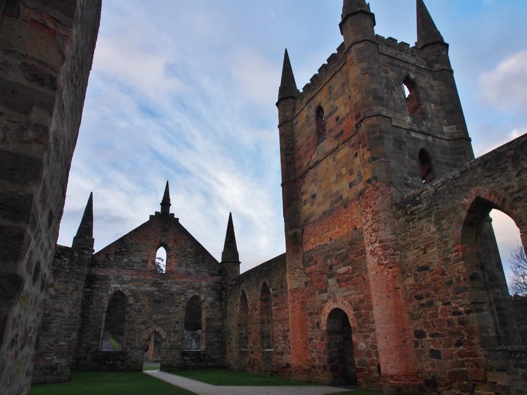 The church in Port Arthur.