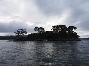Isle of death, where dead prisoners were buried.