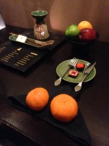 Mandarin Oranges and CNY treats.
