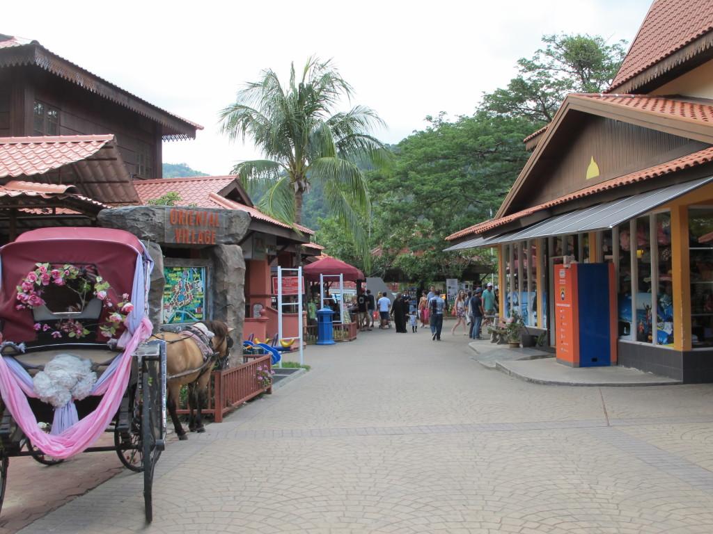 Oriental village buildings.