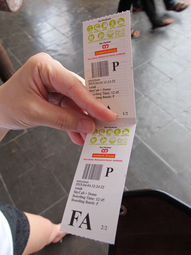 Tickets to Skycab.