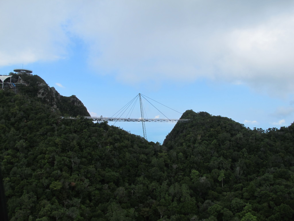 View of the bridge from the cable car.