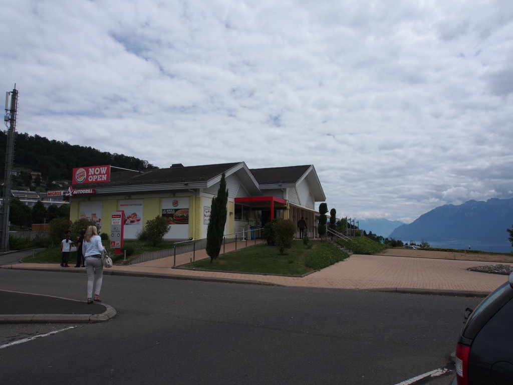 Burger King service station with a view.