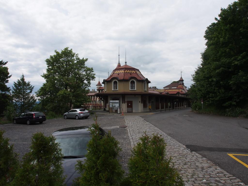 Caux, a small town reachable by car.
