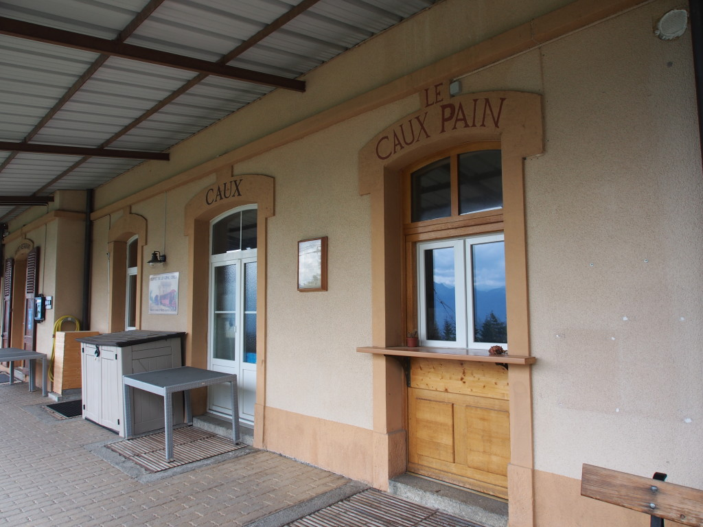 Caux train station.