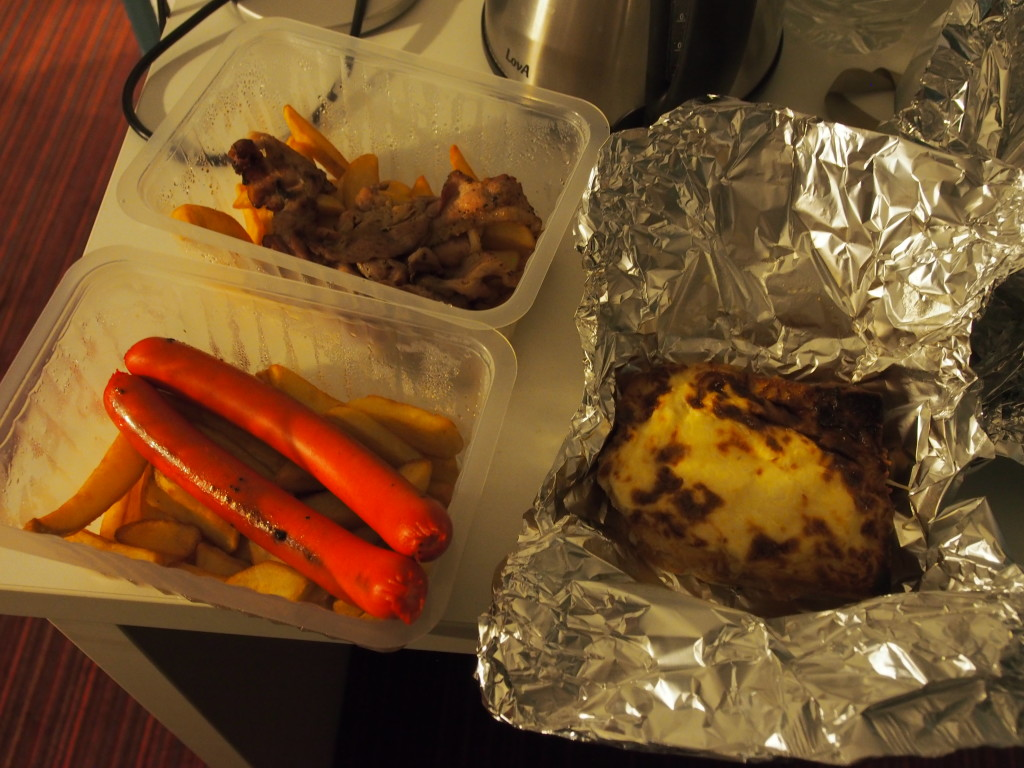 Chicken and sausage dinner.