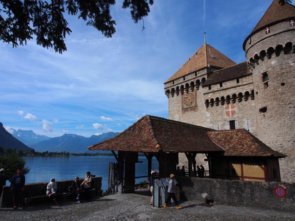 Chateau Chillon beside the lake.