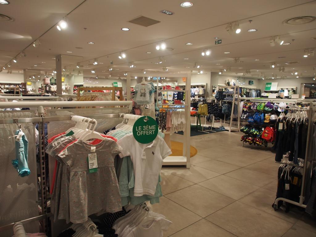Huge H&M kids wear section.