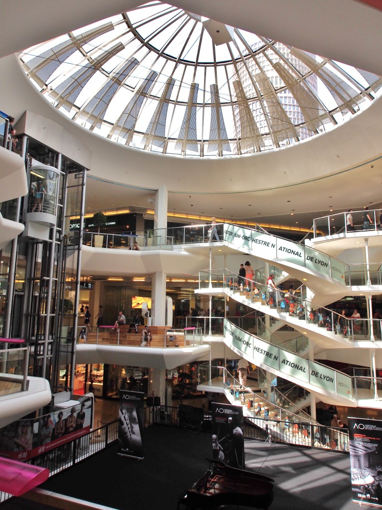Inside the mall.