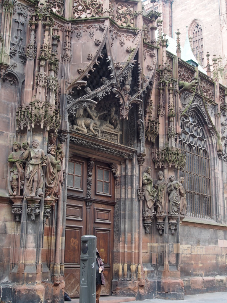 Intricate gothic architecture.