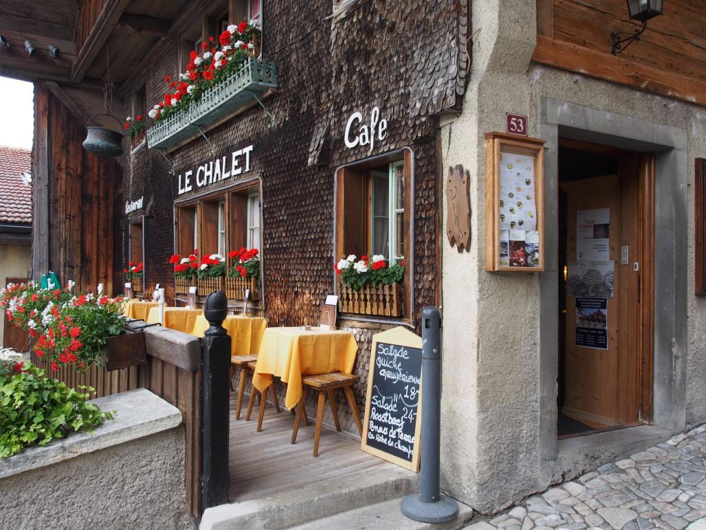 Le Chalet restaurant.