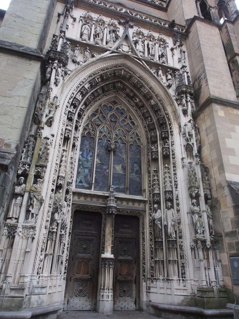Gothic door arch.