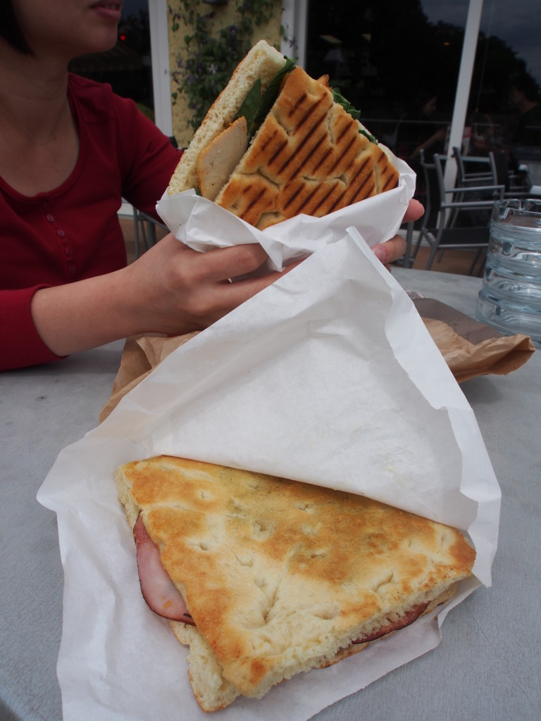 Our lunch of paninis.