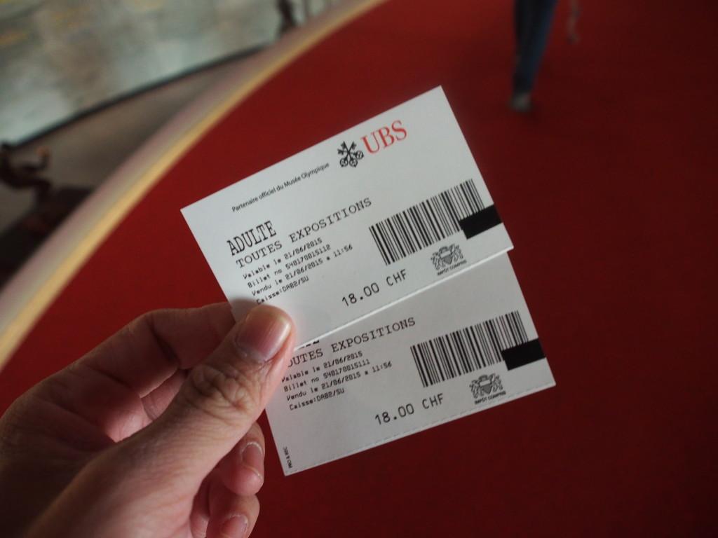 Entrance tickets.