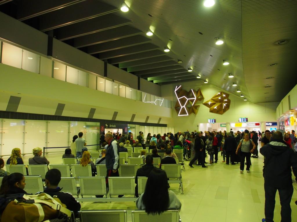 Tiny Perth arrival hall.