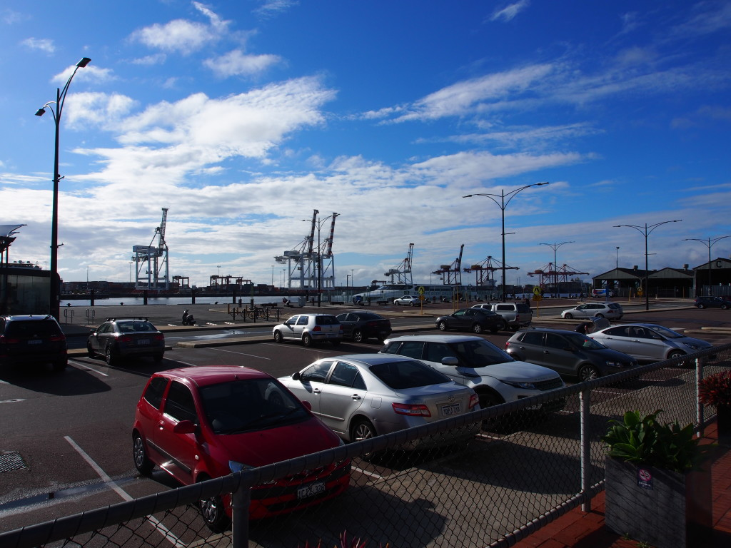 View of the Fremantle port.