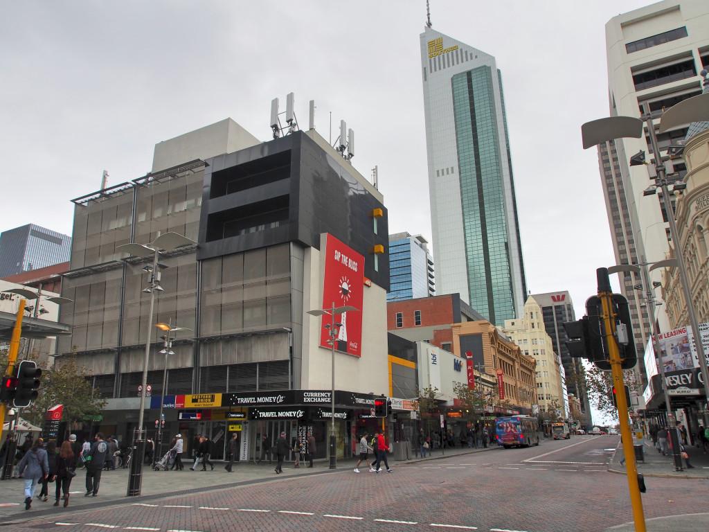 Perth shopping area.