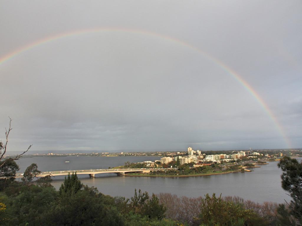 Rainbow after the rain.