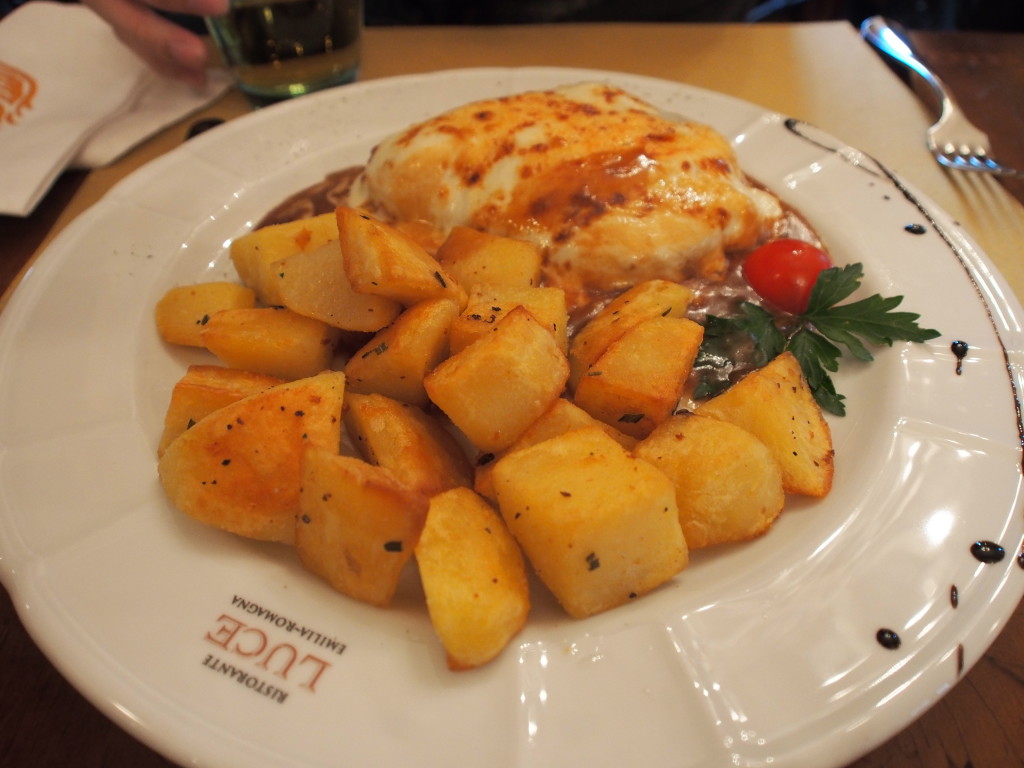 Pasta with potato.