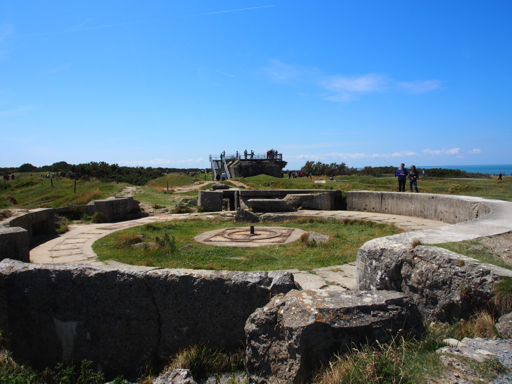 What's left of the installations at Pointe du Hoc.