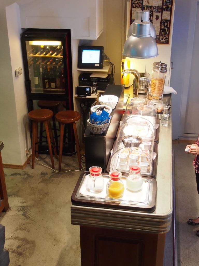 Small buffet spread for breakfast.