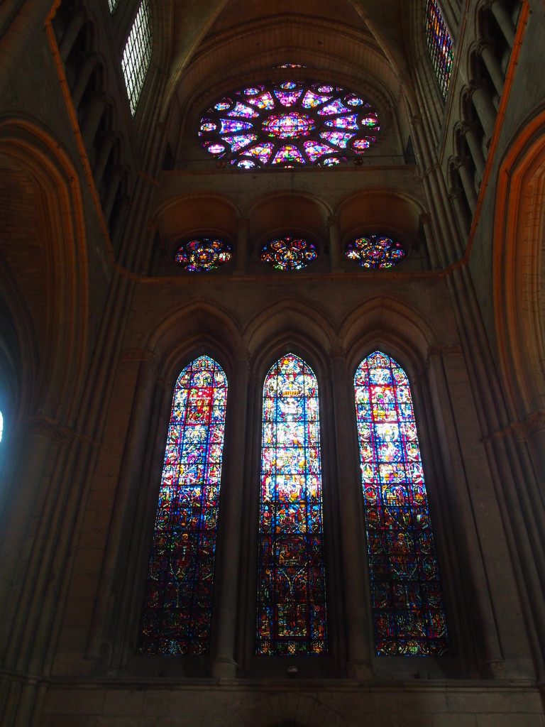 Beautiful stained glass within the cathedral.